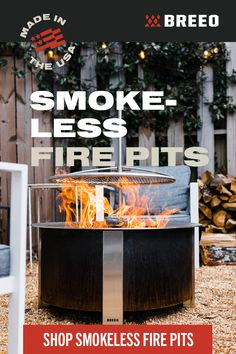 Breeo fire pits take any outdoor space to the next level with a sleek aesthetic and durability to last a lifetime. Backyard Plan, Backyard Patio Designs, Backyard Retreat, Fire Pit Backyard, Backyard Landscaping, Backyard Fireplace, Fire Pit Designs, Diy Outdoor Furniture, Backyard Makeover