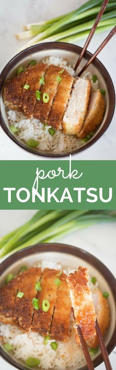 Japanese pork tonkatsu is a traditional dish made up of breaded and fried pork cutlet. The juicy pork on the inside, and the crispy, breaded outer coating creates a delicious meal that is hard to pass up! | wanderzestblog.com