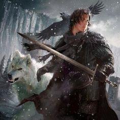 Jon Snow by Michael Komarck - Game of Thrones fan art Jon Snow, Tolkien, Fantasy World, Fantasy Art, Character Inspiration, Character Art, Arte Game Of Thrones, Templer, Snow Art
