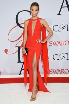 "Natasha Poly in Michael Kors ""From her ensembles at Cannes to this, Natasha has been killing it on the carpet lately. There's no way to describe this Michael Kors look other than red hot."