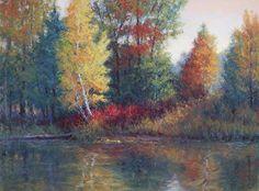 Pond Reflections by Kathleen Kalinowski Pastel ~ 18 x 24