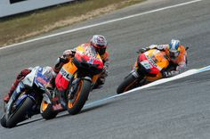 Estoril, POR - Casey Stoner, Jorge Lorenzo and Dani Pedrosa would once again take 1st, 2nd and 3rd. No one seems to be able to keep up with the Repsol Hondas and Lorenzo's factory Yamaha. I wager they'll be on the podium quite a bit this season! #motogp