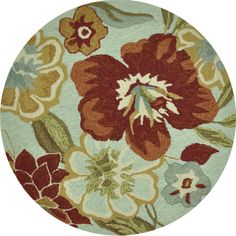 Hand-hooked Savannah Mist Rug (3' Round) - Overstock™ Shopping - Great Deals on Alexander Home Round/Oval/Square