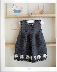 Zélia Crochet: Vestido + casaco de bebê