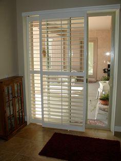 window treatments for sliding doors hunter douglas shutter