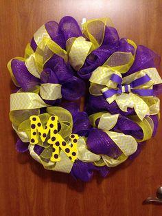 Minnesota Vikings Wreath by KnopfKreations on Etsy