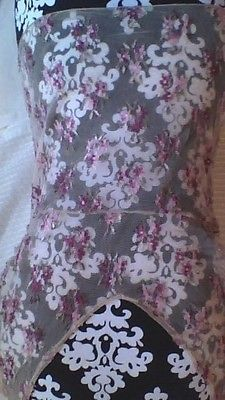 Vintage Sexy See thru Laced Back Cami Beige Floral Great Condition Cap Sleeve | eBay 3.00