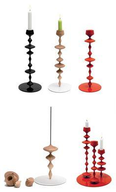 Wooden #candle holder LES PERLES by Y'A PAS LE FEU AU LAC | #design François-Xavier Balléry #christmas