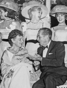 Walt with PL Travers, at the premiere of Mary Poppins.