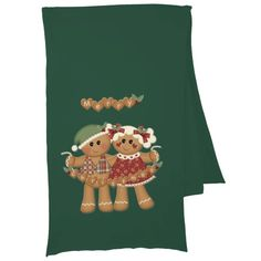 Gingerbread Country Christmas Scarf