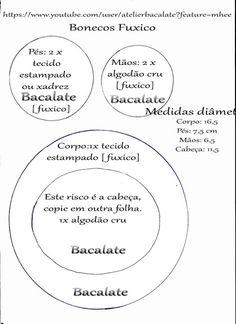 Como fazer BONECA de FUXICO LEMBRANCINHA ~ BACALATE