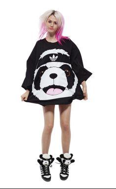 Adidas Jeremy Scott panda t shirt by emporiumemporium on Etsy 4bc1c5b4a906