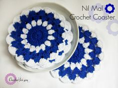 Nil Mal Crochet Coaster free pattern - Crochet for you