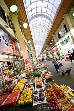 Indoor market in Iksan, Korea. Popular touristic destination as well.