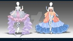 (OPEN) Adoptable Outfit Auction 140-141 by Risoluce.deviantart.com on @DeviantArt