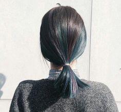 33 ideas hair goals color short for 2019 Medium Long Hair, Medium Hair Styles, Curly Hair Styles, Hair Goals Color, Hidden Hair Color, Look 2018, Aesthetic Hair, Green Hair, Black Hair