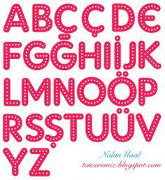 dekupaj için harfler