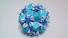 "Handmade origami kusudama, Origami ""Kaleidoscope""  by exoticfolds on Etsy, USD$11.55."