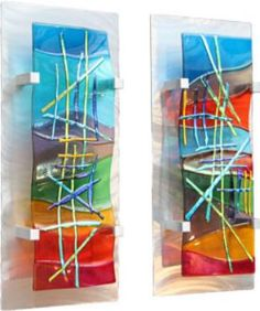 Fused Glass Wall Art by Frank Thompson Broken Glass Art, Sea Glass Art, Glass Wall Art, Stained Glass Art, Mosaic Glass, Fused Glass, Blown Glass, Mosaic Tiles, Glass Beads