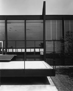 detail of Crown Hall, Chicago by Ludwig Mies van der Rohe (1956)