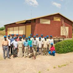 Kingdom Hall construction volunteers in Togo