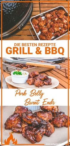 Pork Belly Burnt Ends Grilled Beef, Grilled Veggies, Grilled Chicken Recipes, Pork Recipes, Smoked Pulled Pork, Smoked Brisket, Pork Belly Burnt Ends, Shrimp And Vegetables, Le Chef