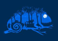 """""""The Midnight Forest"""" - Threadless.com - Best t-shirts in the world"""