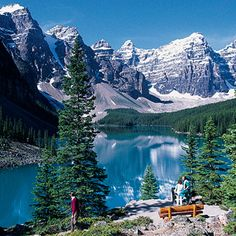 Moraine Lake and the Valley of the Ten Peaks - in Banff National Park, Canada Banff National Park Canada, Banff Canada, National Parks, Canada Tours, Canada Travel, Vacation Trips, Dream Vacations, Vacation Ideas, Riding Mountain National Park