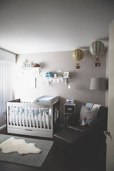 A Travel-Inspired Baby Nursery Design — Giggle Hearts - Party Ideas for Celebrating Everyday with Giggles, Love + Sparkles Baby Bedroom, Baby Boy Rooms, Baby Room Decor, Baby Boy Nurseries, Nursery Room, Girl Nursery, Kids Bedroom, Baby Cribs, Small Nurseries