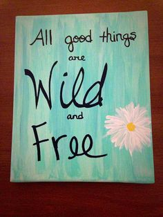 Wild and Free Painting by starrygirlb on Etsy