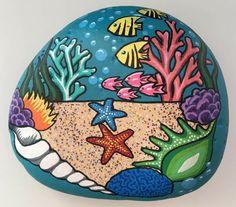 Seashell Painting, Pebble Painting, Pebble Art, Stone Painting, Rock Painting Patterns, Rock Painting Ideas Easy, Rock Painting Designs, Painted Rock Animals, Painted Rocks Kids