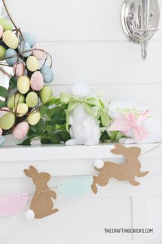 DIY Bunny & Doily Garland - The Crafting Chicks