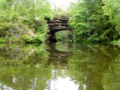 Canoeing near the natural bridge. Calm waters and awesome rocks formations make this a great place to visit!