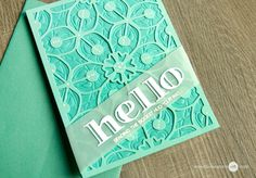 Dry embossing works great with layered background dies! This card uses the Layered Medallion Die A and B, and Inline Alpha die set . www.altenew.com