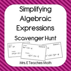 Words to Equations - Writing Algebraic Expressions for 6 Groups ...