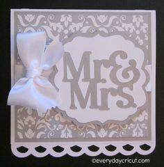 Everyday Cricut: Cricut Close to My Heart CTMH Artiste Wedding Card
