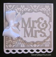 Cricut Close to My Heart CTMH Artiste Wedding Card