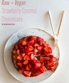 Lauren Conrad's raw, vegan strawberry coconut cheesecake recipe sounds AMAZING