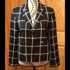 Black big checkered jacket BRAND NEW!! Very well made Jacket to keep you stylin! Express Jackets & Coats Blazers