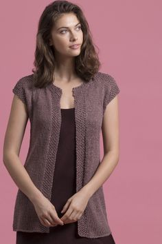 Gaia represents elegant simplicity at its best - with its slimming lines of Stockinette, embellished only by Seed stitch bands along the front and side slits, it is the ideal layering piece for season. Knitting Patterns Free, Knit Patterns, Knitting Books, Seed Stitch, Long Vests, Vest Pattern, Knit Vest, Knit Fashion, Knit Crochet