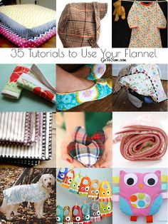 35 Fantastic Flannel Tutorials- time to use your stash!