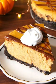 Chocolate Pumpkin Cheesecake Will Make Your Guests Lose Their Minds