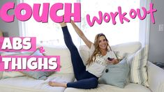 Lazy Girl Seated COUCH WORKOUT | Abs & Thighs