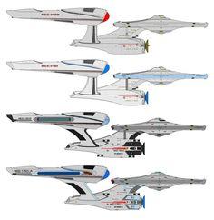 Constitution Class Ship linage by nichodo on DeviantArt Star Trek Rpg, Star Trek Ships, Star Trek Tattoo, Starfleet Ships, Star Trek Beyond, Space Battles, Star Wars Vehicles, Star Trek Into Darkness, Sci Fi Ships