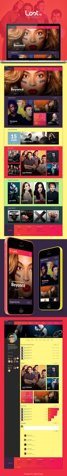 Last FM Redesign Concept on Behance