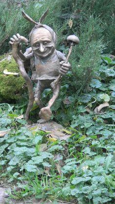 Bronze Garden sculpture by artist Victoria Chichinadze titled: 'Mushroomer' £2184 #sculpture #art