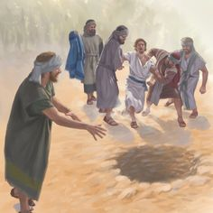 Joseph's brothers throw him into a pit Bible 2, Bible Truth, Joseph In Egypt, Indian Sign Language, Caleb Y Sofia, Bible Illustrations, Bible Pictures, Biblical Art, Bible Knowledge