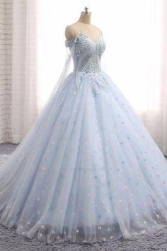 Appliques Prom Dresses, Prom Dresses Blue, Prom Dresses Lace, Custom Made  Wedding Dress b27cadf64a