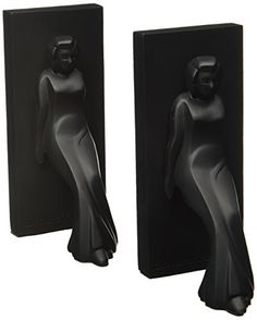 Kikkerland Pair of Leaning Ladies Bookends Black *** More info could be found at the image url.