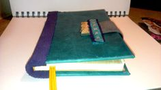 Hand made book  teal leather with cross by BookBindingBirdy, $35.00